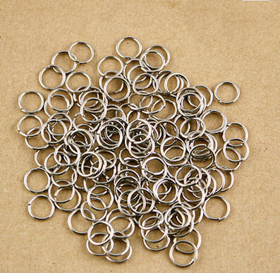 2015 Hot Newest 680Pcs Real Silver Plated 21 Gauge 8mm Diameter Open Jump Rings Jewelry Findings