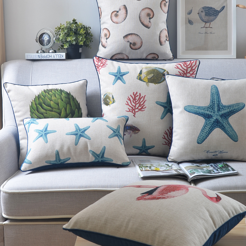 Custom made American classical style Pillow Covers refined and cozy Pillows Decorate seaweed starfish Cushions For Sofas