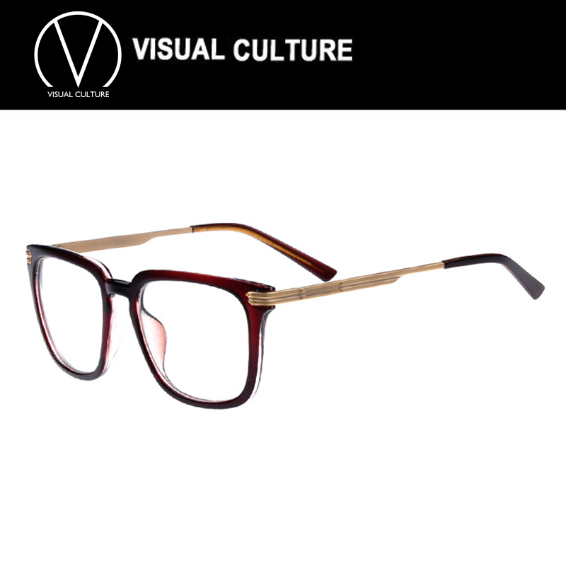 2864f4387a8a 2015 gold glasses frames for men with Clear Lens Fashion women large Frame  Glasses Vintage Retro Nerd Geek opitical glasses C082