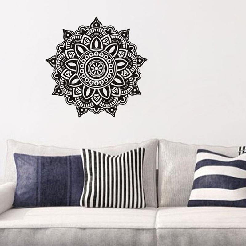 Bohemian Wall Decal Mandala Removable Sticker Flower Decals Home Bedroom Window Yoga Decor