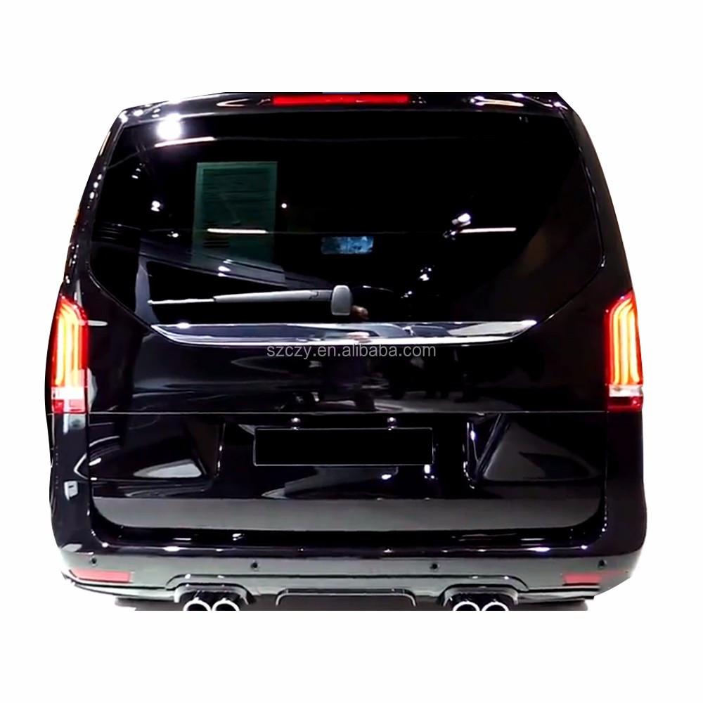 b style auto noir pu arri re lip diffuseur pour mercedes vito w639 de classe 2016 autres pi ces. Black Bedroom Furniture Sets. Home Design Ideas