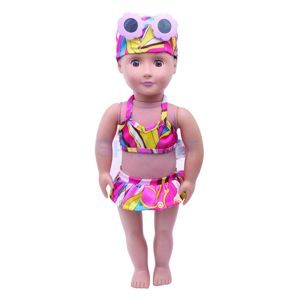 fcbd2d705260e 3pcs Swimwear Swimsuit Clothes For 18 inch American Girl Doll Our  Generation Doll Clothes Bikini Tops