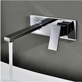 משלוח חינם מפל ברז שלוש ערכות קטע של סגנון פשוט אמבטיה ברז בקיר-אגן מיקסר פליז. ברז מים LT-302