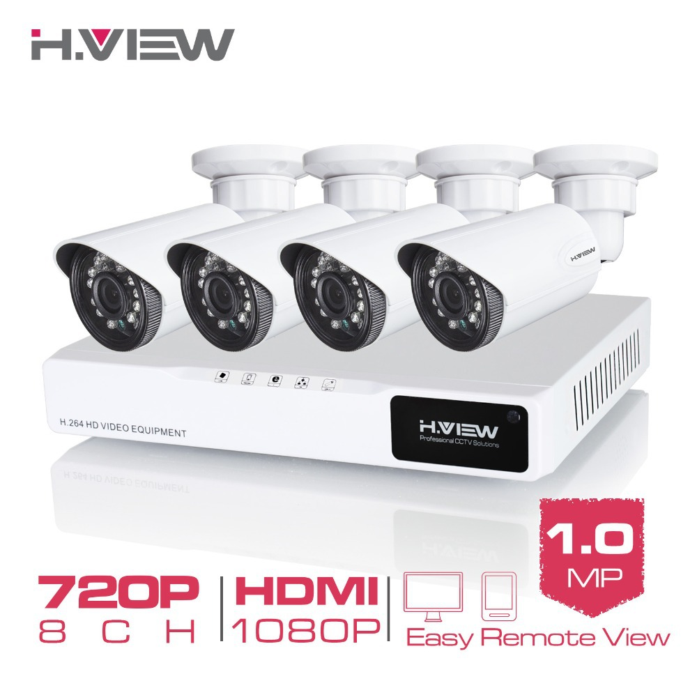 4CH CCTV System 720P HDMI AHD 8CH CCTV DVR 4PCS 1.0 MP IR Outdoor Security Camera 1200 TVL Camera Surveillance System