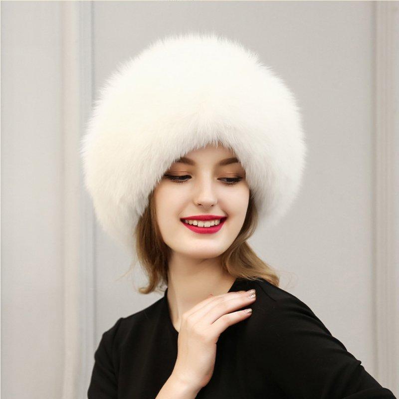 2019 2017 Winter Women Raccoon Fur Hat Fashion Leather   Fur Hats ... ad5ddf80246