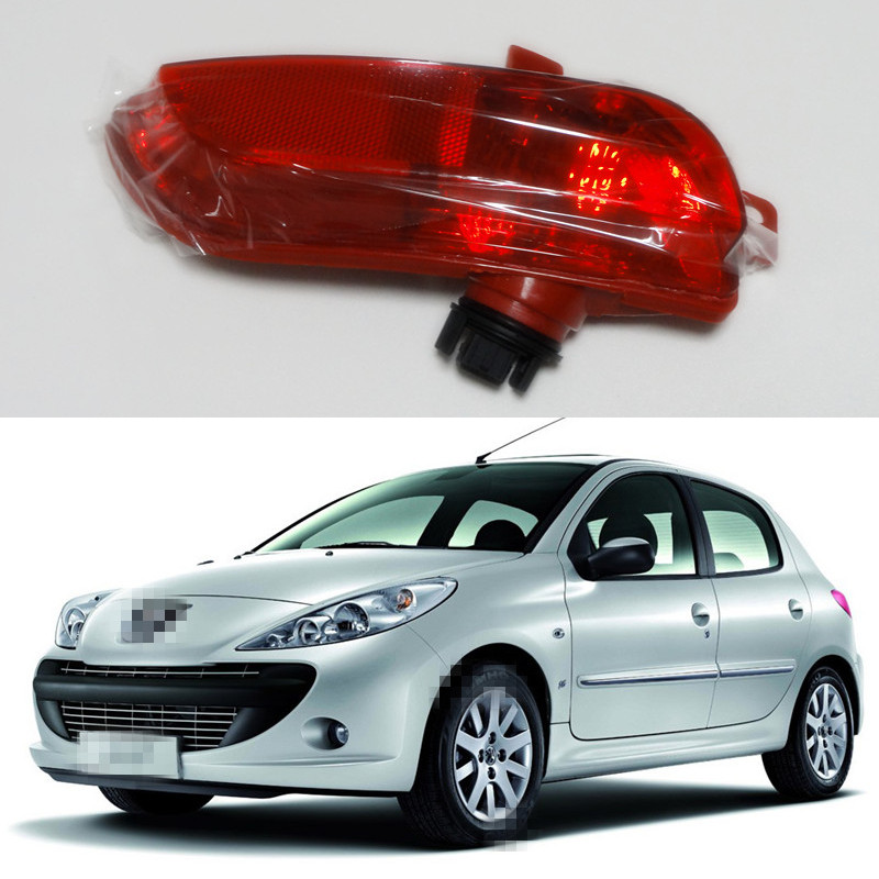 1 piece lh car back bumper fog lamp light for peugeot 206 plus 207 in external lights from. Black Bedroom Furniture Sets. Home Design Ideas