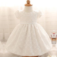 First Year Christening Dress For Newborn Print Flower Pattern Vestido Infant Wedding Party Summer Baby Girl Dresses Newborn