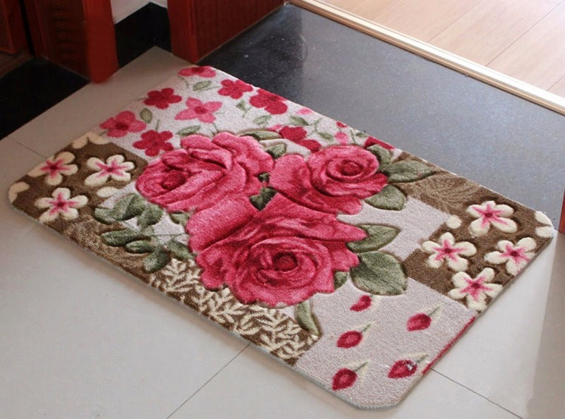 Tasteless non-slip suction machine washable mats bedroom living room door  mats Ottomans - us216 a511809869b