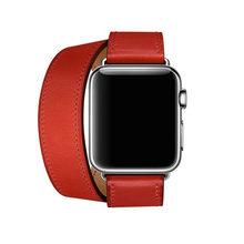 Высококачественный двойной ремешок для часов Apple Watch Series 5 4 3 2 1, ремешок iWatch 38/40 мм 42/44 мм, браслет из натуральной кожи(Китай)