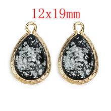 LOULEUR 8 цветов натуральный камень подвеска в виде капли воды блеск Смола Кристалл для Diy Шарм ожерелья для женщин изготовление, поиск ювелирны...(Китай)
