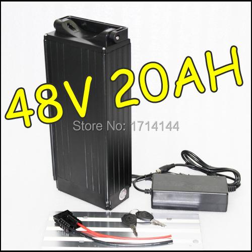 48v 20ah rear rack lithium battery with bms charger 48v. Black Bedroom Furniture Sets. Home Design Ideas