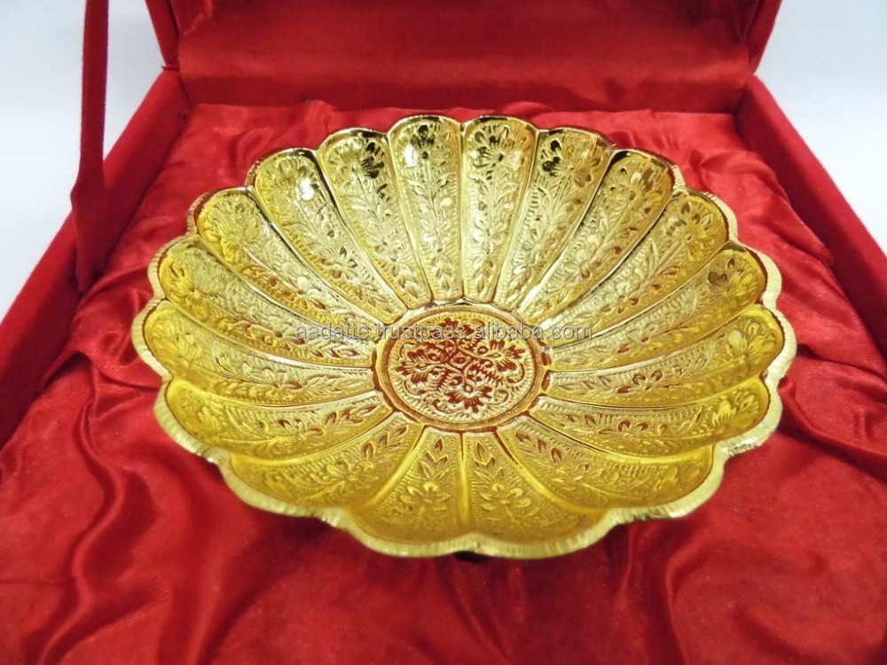 Wedding Gift Item: Wedding Gift Item Brass Gold Plated Bowl For Return Gift