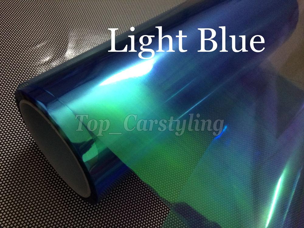 30cmx10m Roll Light Blue Chameleon Headlight Tint Film Car Taillight Fog Vinyl Protwraps Neo