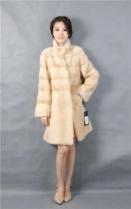 2015 font b winter b font woman fashion real mink fur LONG real mink coat 1030