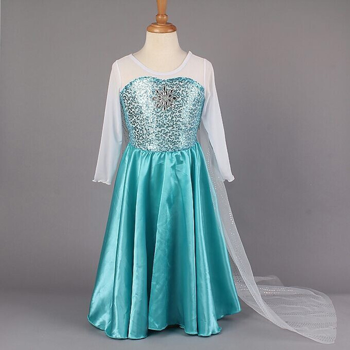 teenage girls dresses fantasia elsa dress 2015 summer style kids dresses for girls long sleeve children