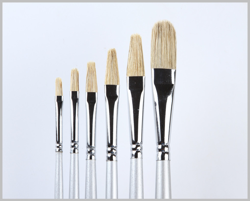 Natural Bristle Oil Painting Brushes