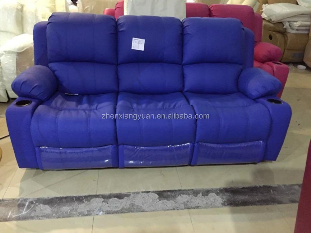 Blue Color Microfiber Leather Recliner Sofa Lazy Boy