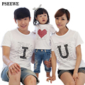 Cotton 100 t shirts 2016 New summer family matching outfits baby boys and girls T shirt