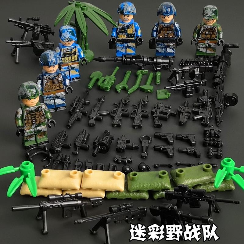 Десантник! Военные спецназ Солдат кирпичи фигурки-пистолеты оружие спецназ строительные блоки легочная игрушка для детей(Китай)