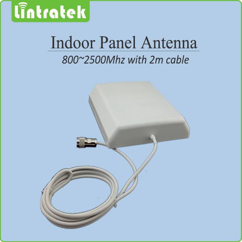 800 2500mhz 2G 3G Indoor Panel antenna with 2m cable indoor Antenna for Mobile Signal Booster