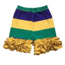 Фиолетовый, зеленый и золотой Mardi Gras праздничный комплект одежды для малышей(Китай)
