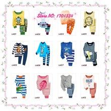 2015 Spring Autumn Kids Clothes Baby Boys Gilrs Clothing Long Sleeve Costume Cotton Pajamas Childrens Sleepwear Pyjamas Pijamas