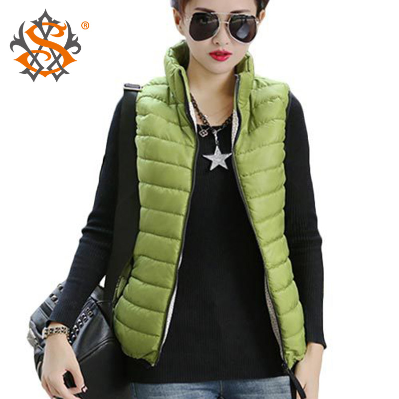 Plus Size Autumn Winter Coat Women Ladies Gilet Colete Feminino Casual Waistcoat Female Sleeveless Cotton Vest