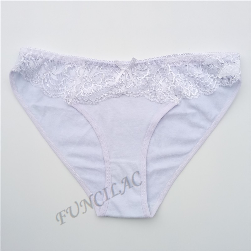 FUNCILAC Free shipping 5pcs/lot New Women's cotton panties Girl Briefs Ms. cotton underwear bikini underwear sexy Ladies Briefs