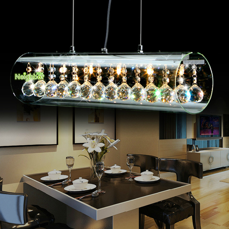 Hanging Dining Room Light: New Modern Crystal LED Pendant Light For Home Suspension
