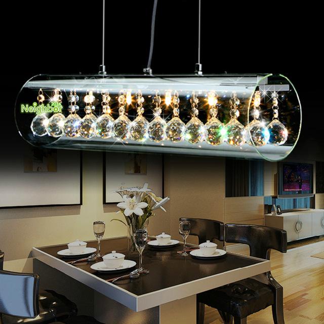 Hanging Dining Room Light Fixtures: New Modern Crystal LED Pendant Light For Home Suspension