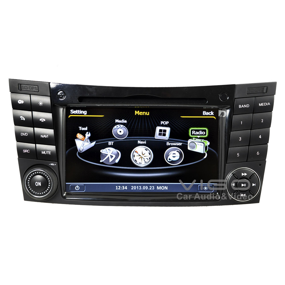 car stereo gps navigation for mercedes benz e class w211. Black Bedroom Furniture Sets. Home Design Ideas