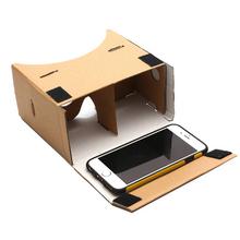 Google Cardboard VR 3D Glasses Virtual Reality Smart Glasses For Mobile Phone 5.0″ Screen With Adjustable Head Mount Belt Strap