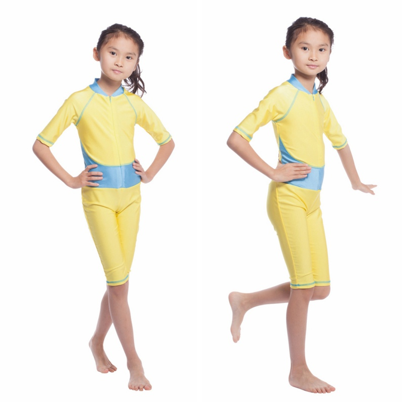 74130b3cec774 2016 Kids Girls Muslim Arab Swimsuit Modest Swimwear Islamic Full Covered  Beachwear Bathing Suits -in Children's One-Piece Suits from Sports &  Entertainment ...