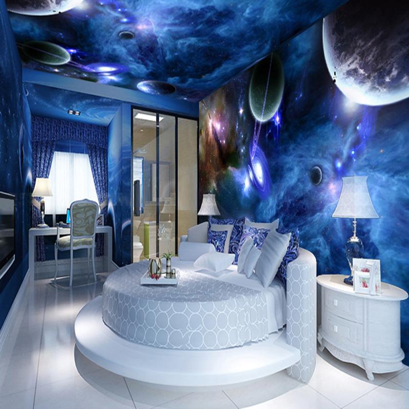 Custom 3D Stereo Wallpaper Living Room Bedroom Suspended