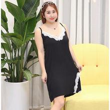 XXL-5XL, большие размеры, 2020, сексуальное хлопковое белье, ночная рубашка, набор, большой размер, ночные рубашки, длинная одежда для сна, женское ...(Китай)