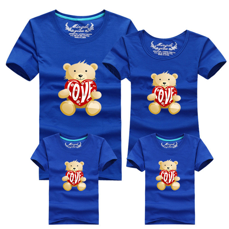 5f9a0194 1 Piece Family fitted short-sleeved Family Pack Fashion Family Matching  Outfits Cubs T-shirt For mother father Baby 059 | SMS - F A S H I O N