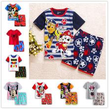 Summer Children Clothing Sets Baby boy s pajamas suits Girls Sets kids sleepwear pajamas cotton short