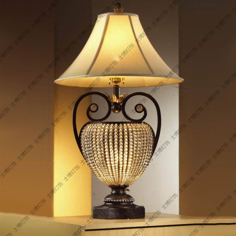 Living Room End Table Lamps: Fashion-iron-crystal-chain-table-lamp-luxury-living-room