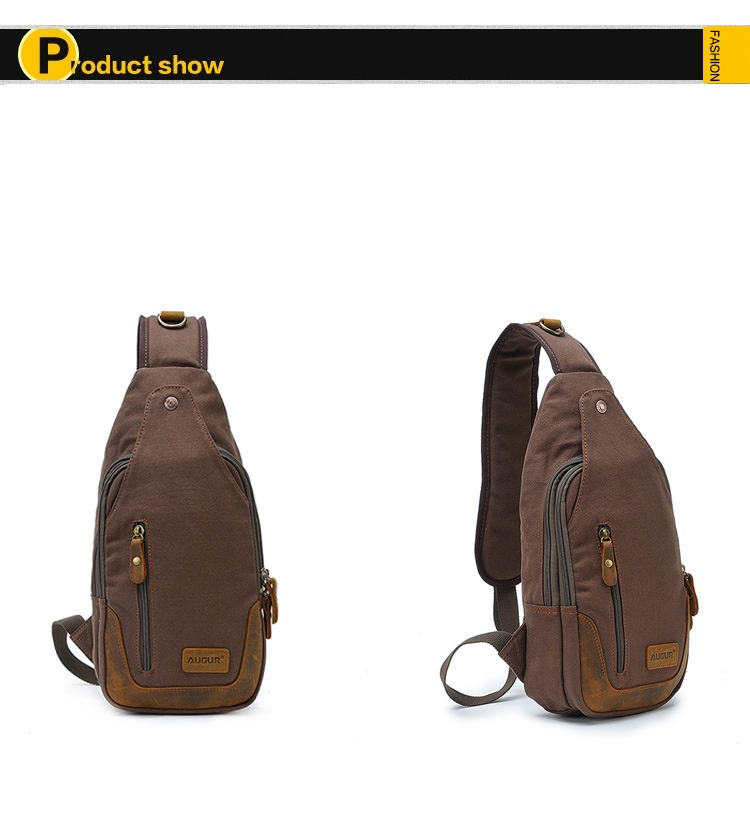 Detail Feedback Questions about Casual One Strap Backpack Men ... 8069116bf5f51