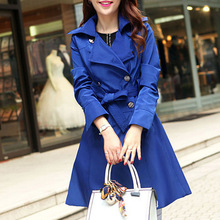 Women Long Trench Coat Autumn 2015 New Winter Spring Fashion Brand Plus Size S-3XL Windbreaker Overcoat Casacos Femininos 103
