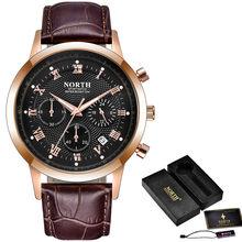 North мужские часы Топ бренд класса люкс Хронограф Кварцевые часы мужские кожаный ремешок Авто Дата модные повседневные спортивные Rolex_watch(Китай)