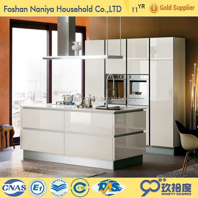 White Kitchen Cabinets Resale Value: Fair Price Pearl White Kitchen Cabinet With Transparent