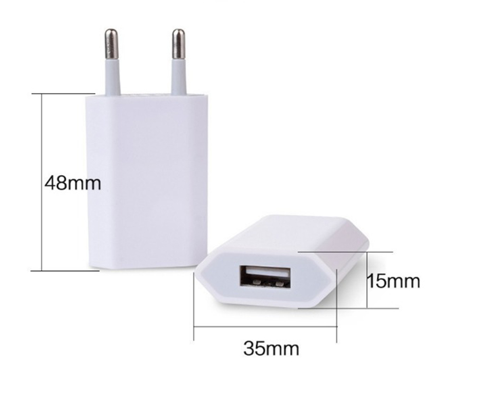 Portable 5V 500MA USB Charger Universal Cell Phone Travel Adapter EU Plug