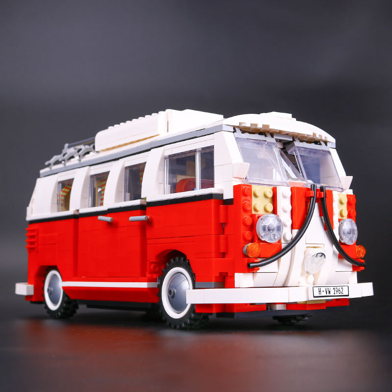 UKLego Creator Volkswagen T1 Camper Van Building Blocks technic bricks action figure car toy.