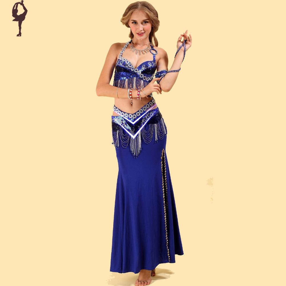 2015 Belly Dance Costume Set Bra&Skirt&Belt Indian Dance ...