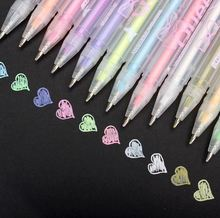 Color ink gold silver white gel pen office essential Gel-ink pen colorful kawaii cute school supplies caneta papelaria Z353