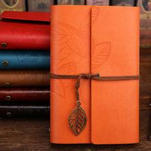 Винтажный дорожный блокнот, дневник, блокнот из искусственной кожи, спиральный блокнот, бумага, сменные журналы планирования, Канцтовары(Китай)