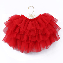 2-10Y New Fashion Children Girl Tutu Skirts Baby Ballerina Skirt Kids Chiffon Fluffy Casual Candy 7 Color Skirt