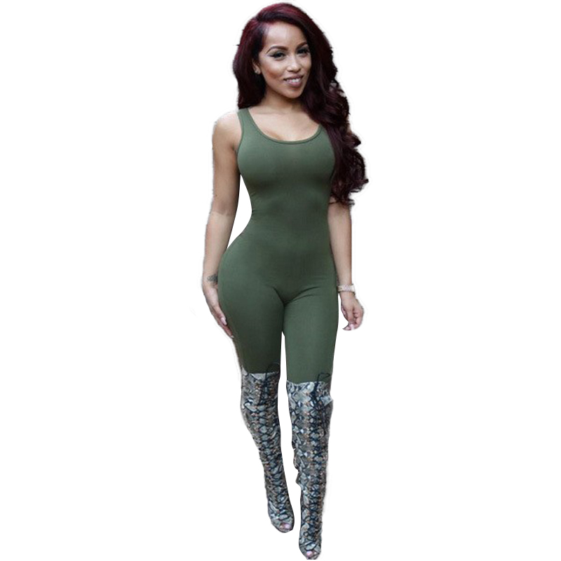 2015 Long Sexy Night Club Rompers Womens Jumpsuit Sleeveless