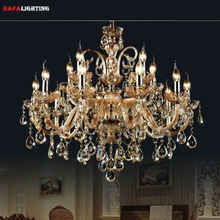 15 Arms crystal chandelier Light Luxury Modern crystal Lamp chandelier Lighting champage Crystal Top K9